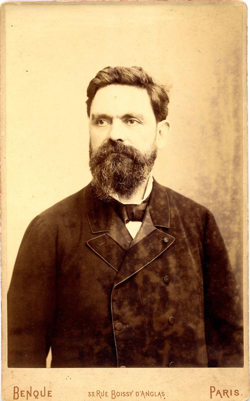 Wilhelm Benque, Portrait photographique d'Alfred Boucher, Paris, vers 1900, don de M. et Mme Buat, collection Musée Camille Claudel.