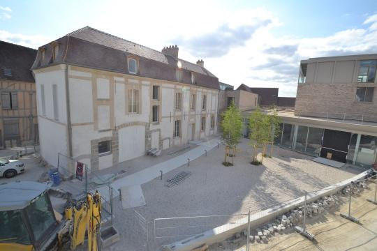 The Musée Camille Claudel in July 2015, a few months prior to the building's completion.