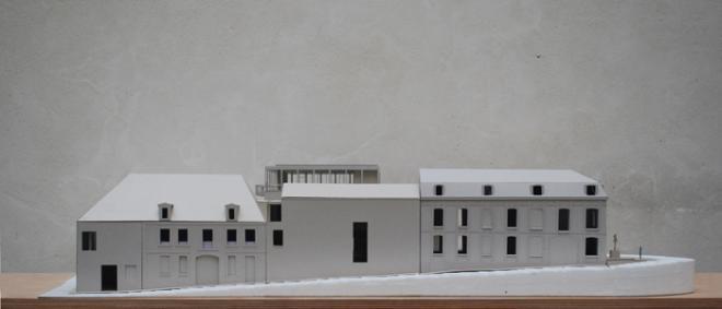 Maquette du musée, côté rue Saint-Epoing.
